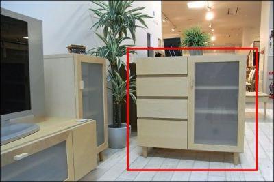 FK-Q80センチ幅アイテムから探す/リビング家具/キャビネットサイドボードメープル【国産家具】【完成品】【宅内設置無料】